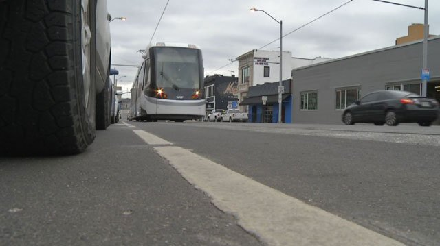 If you parallel park along the streetcar route and you're not inside the white lines, you will get a ticket. (KCTV5)