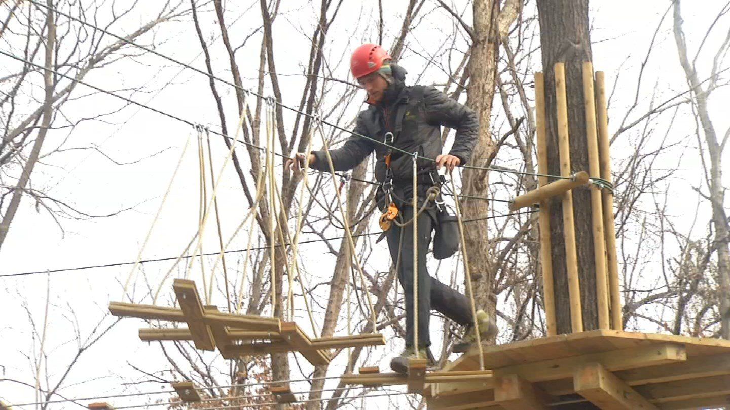 Construction is underway on a treetop adventure course in Swope Park that promises lots of fun for both adults and children. (KCTV5)