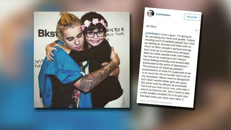 Fans feel cheated after justin bieber cancels vip meet and greet justin bieber told fans on instagram that the meet and greets leave him feeling mentally m4hsunfo
