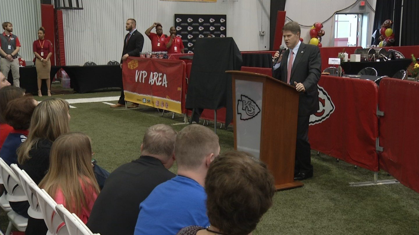 The party will take place on Thursday, April 27, and will celebrate the first round of the 2017 NFL Draft. (KCTV5)