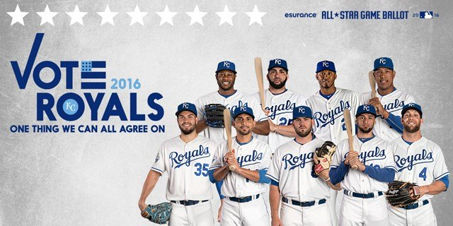 Royals fans can vote for nine positional players for the 2016 MLB All-Star Game. (Kansas City Royals)