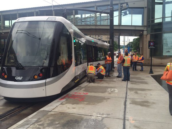 Streetcar riders in Kansas City were inconvenienced when leaving a Garth Brooks concert at the Sprint Center on Sunday. (KCTV5)