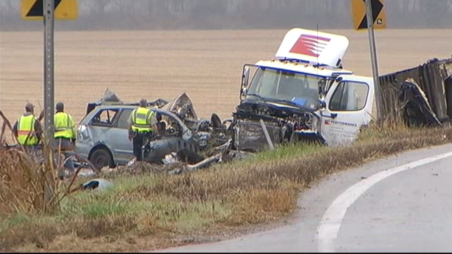 The truck driver in this deadly crash, Adam Shaw, faces 12 criminal charges. A wrongful death civil suit filed by the family says the company should also be held legally responsible. (KCTV5)