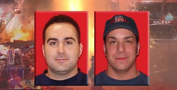 Fire Apparatus Operator Larry Leggio and Firefighter John Mesh were killed when a 100-year-old building collapsed during an arson fire. (KCTV)