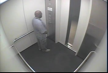 Security footage shows the suspect, an African American male in a light grey polo and khaki pants. (KCPD)