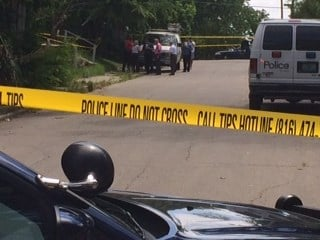 Police found a 50-year-old woman stabbed to death in a home in the 5500 block of Paloma in Kansas City Saturday morning. (Source: Eric Smith/KCTV)