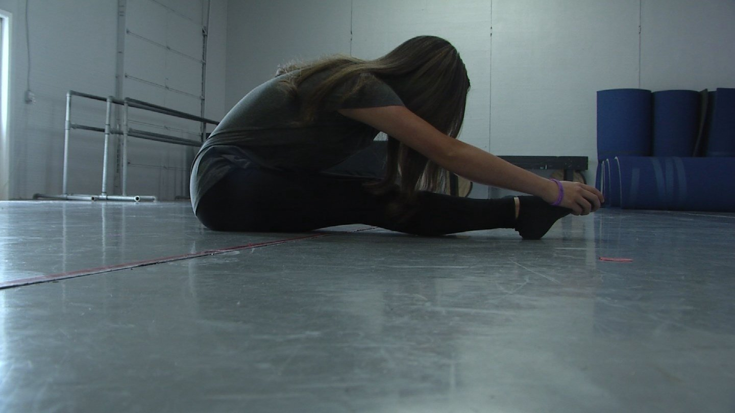Marissa Leggio and her classmates have been practicing at MelRoe's School of Dance in Liberty for weeks to prepare a special tribute to the firefighters who lost their lives.(Source: KCTV)