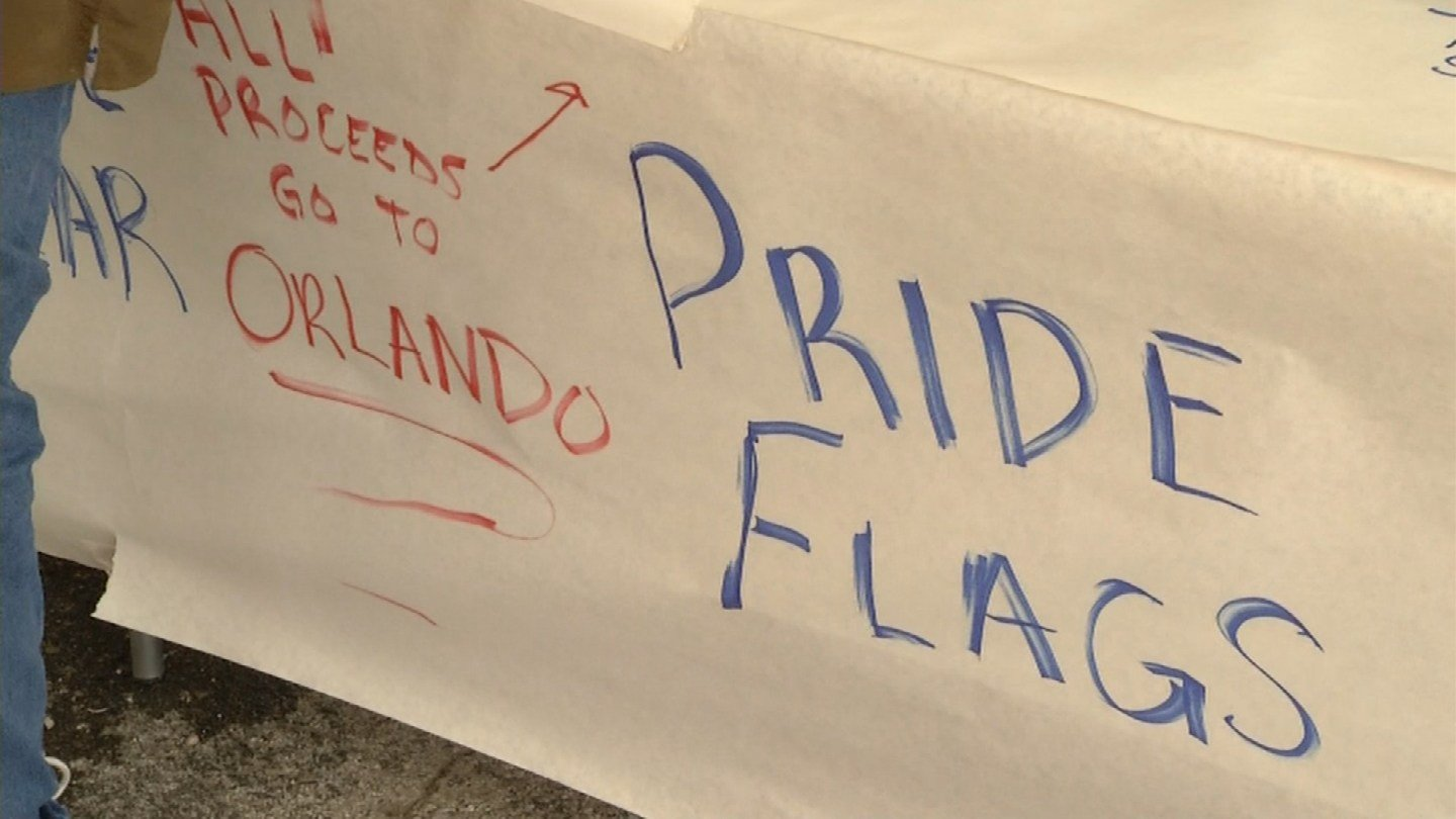 Local LGBT organizations and the Kansas City community are rallying behind the victims of the Orlando shooting with a massive fundraiser thrown together in a matter of days. (Source: KCTV)