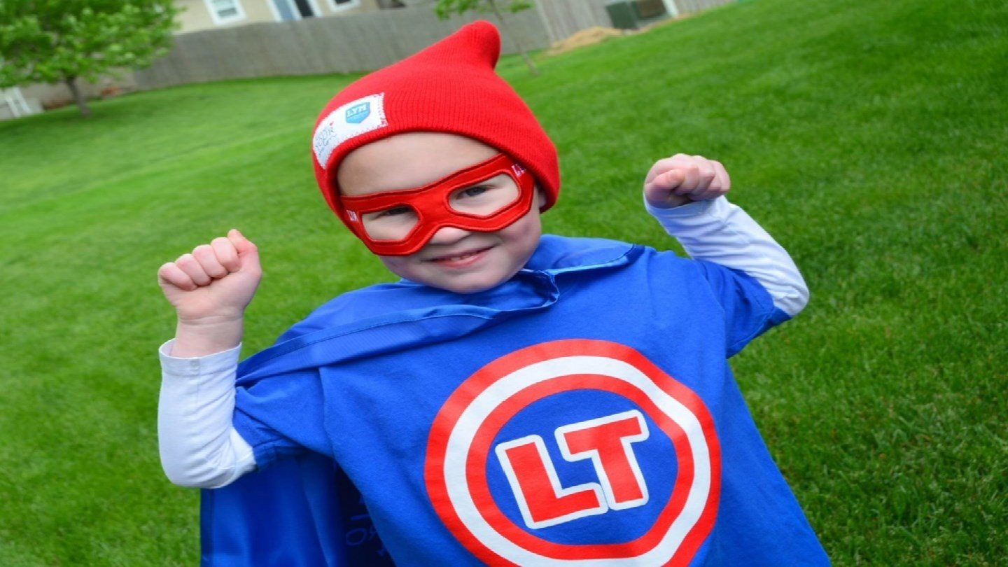 A superhero-themed pancake breakfast raised about $2,000 for 4-year-old Landen Thompson, who is fighting a rare form of cancer.