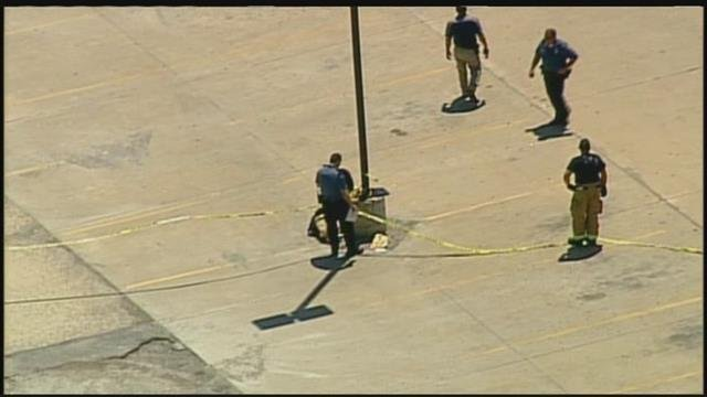 Police are searching for a suspect after a woman was found shot in front of a Belton strip mall. (Chopper5)
