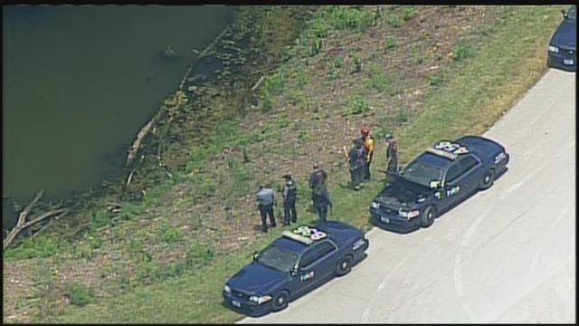 Police ordered boats to be brought to the area of 85th and Prospect to help in their search of a large pond. (Chopper5)