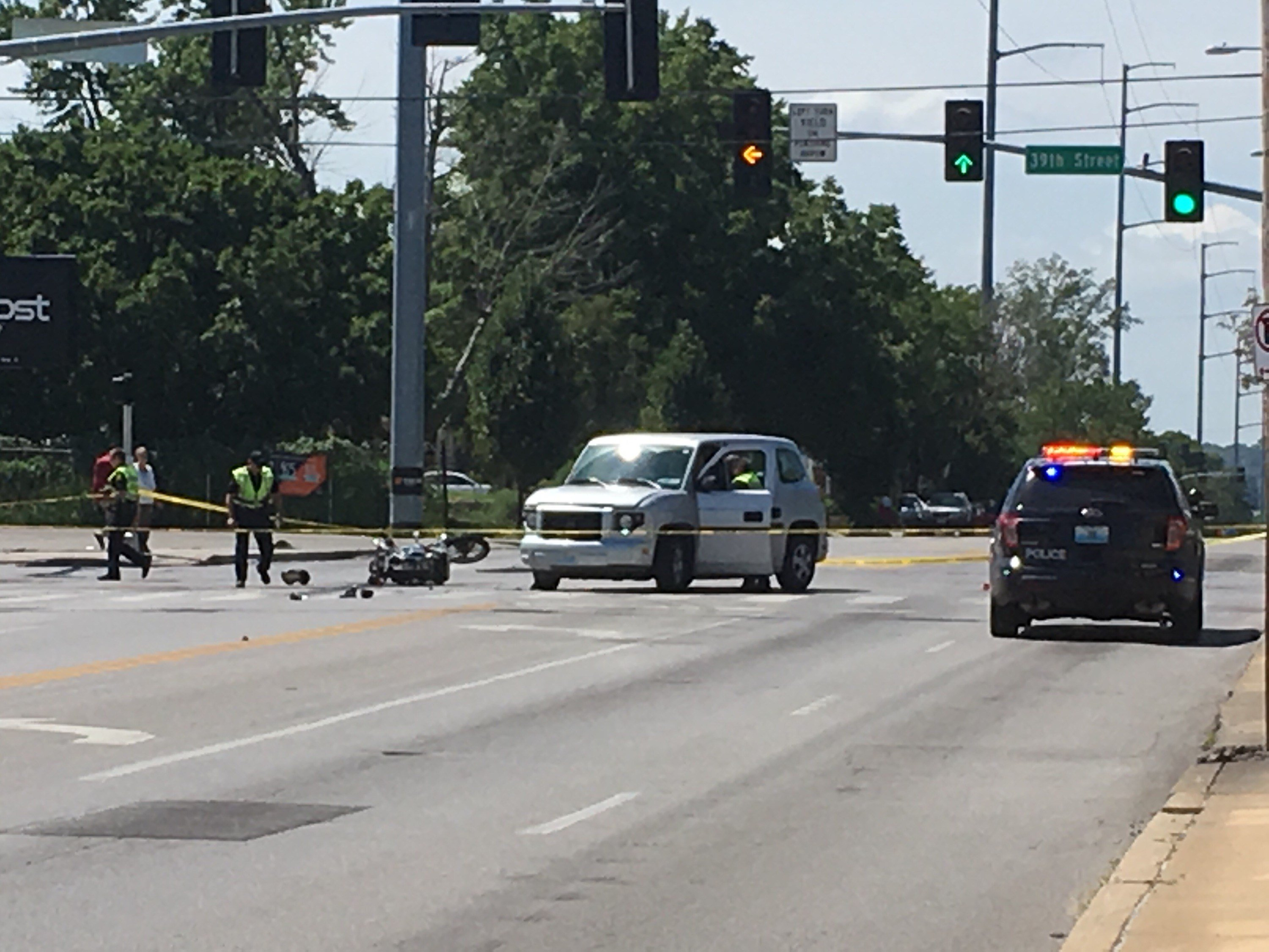 A motorcyclist has been severely injured in an accident. (Bill Lindsay - KCTV5)