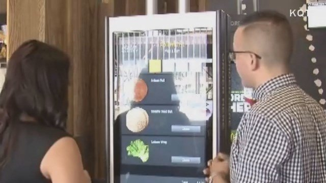 The McDonald's restaurant is decked out with fancy soda machines and a high-tech play place. (CNN)