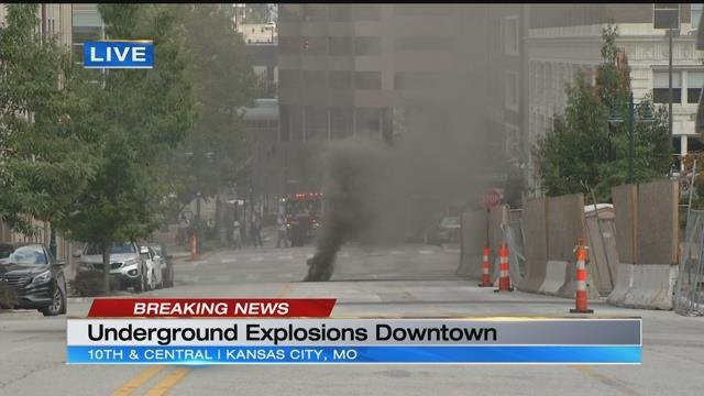 Black smoke billows from downtown after underground electrical explosions