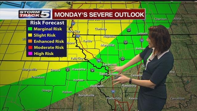 Lisa teachman has your stormtrack5 forecast kctv5