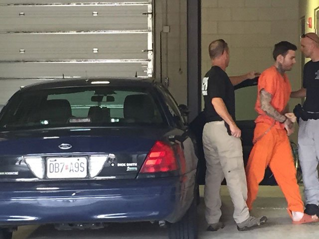 Kylr Yust was brought back to Kansas City from Benton County about 11:45 a.m. Wednesday. (Amy Anderson/KCTV5 News)