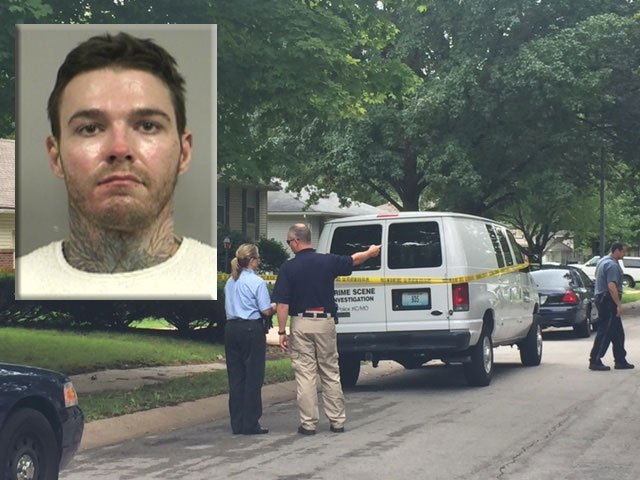 Multiple officers and detectives served a search warrant Wednesday afternoon at a south Kansas City home off East 87th Street and Crescent Avenue. The home they are searching belongs to Kyle Yust's grandfather. (KCTV5)