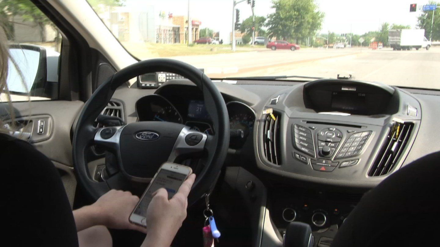 Six Kansas universities have started a campaign to discourage people from texting and driving while on the road. (KCTV5)
