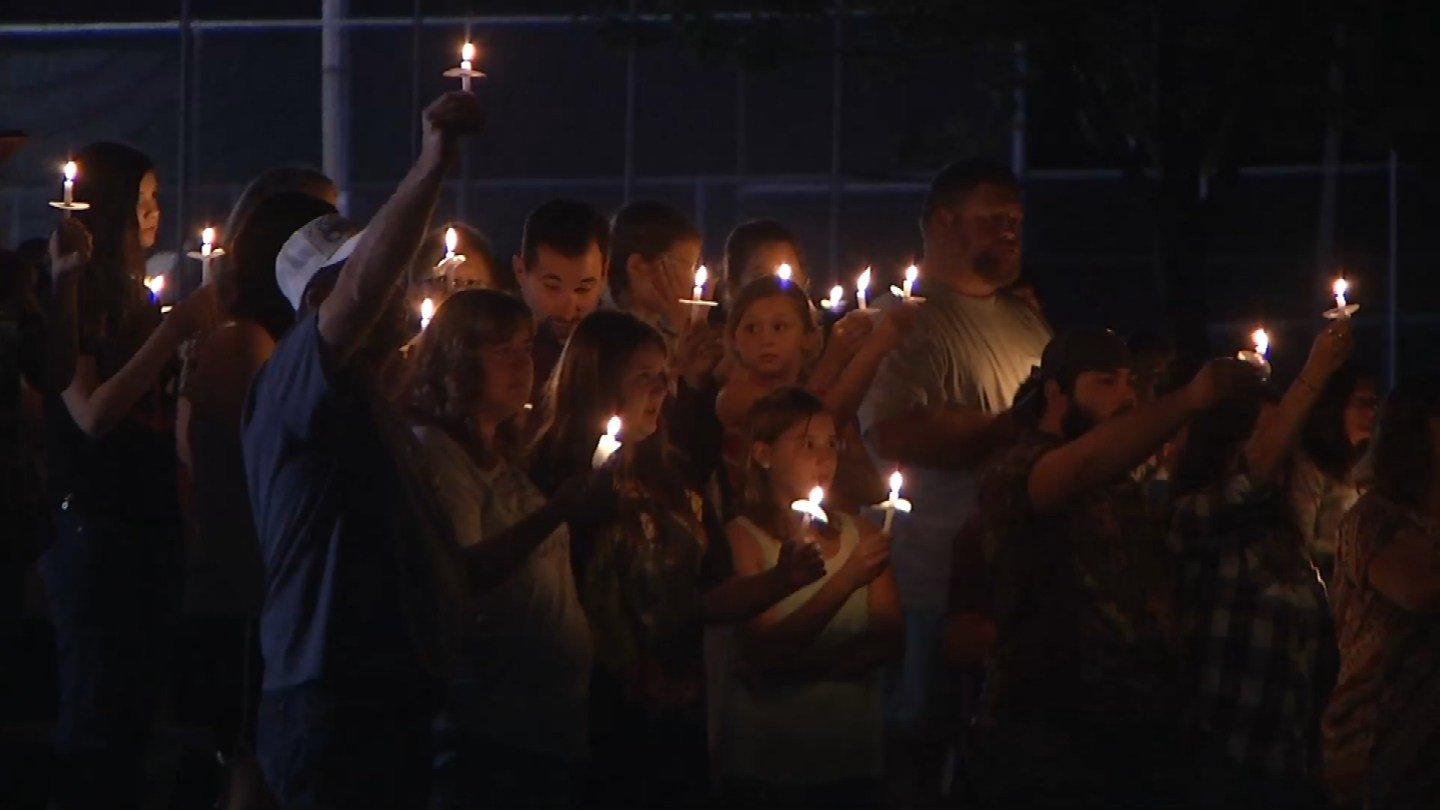 There were smiles and tears as friends shared their favorite memories of what they hoped would be a life-long friend. (KCTV5)