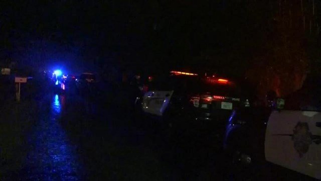 A picture of the scene where police were called on a report of a missing child. (WIBW)