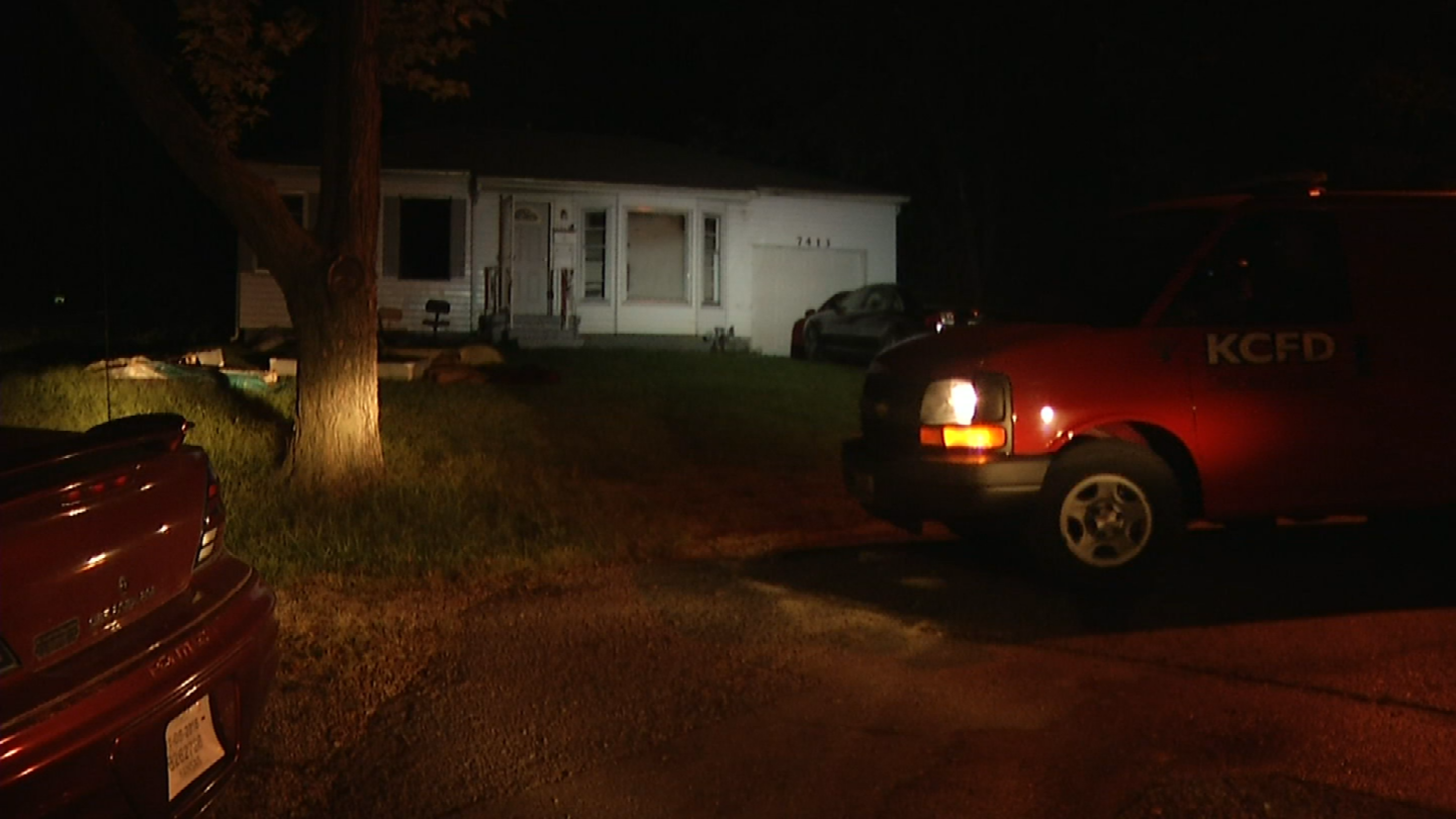 A fire displaced one adult and two children in KCMO. (Adam Wilson/KCTV5)