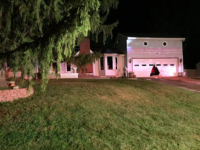 Kansas City Fire Department Battalion Chief Gary Jones says the fire started in the basement and spread to the kitchen. (Michael Ross)