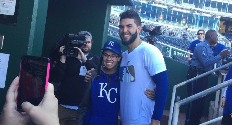 Instead of a day of radiation and therapy, Mahquiya Davis had a day filled with surprises at Kauffman Stadium on Thursday. (Emily Rittman/KCTV5)
