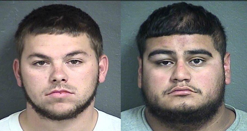 Mugshots of Steven M. Langley, left, and Noe A. Maderos, right. (Wyandotte County Jail)