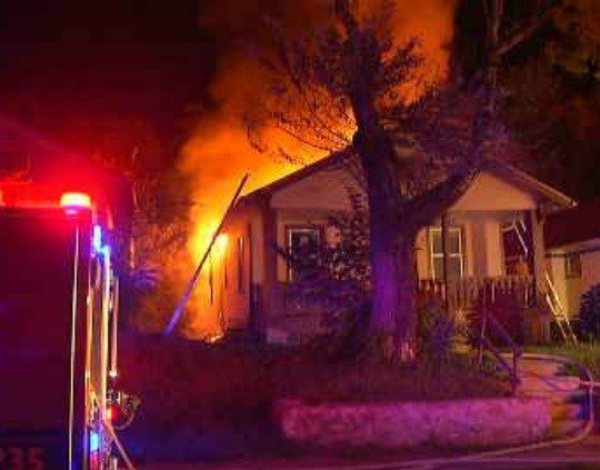 The Kansas City Fire Department responded at 5:24 a.m. to a call of a house fire on the 4600 block of Chestnut Avenue. (KCTV5)