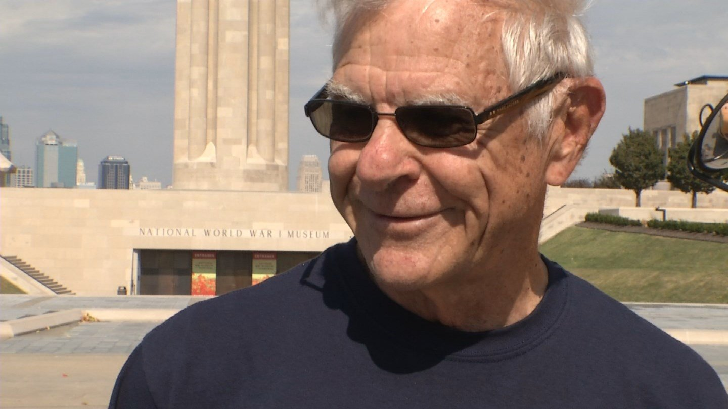 Glen Shepard, a Navy veteran visiting the Liberty Memorial, said some of the toughest people he knows have been through trauma. (KCTV5)