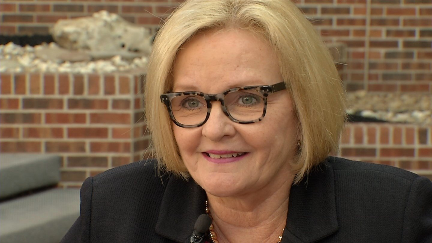 Democratic U.S. Sen. Claire McCaskill of Missouri says she has more than $5 million to spend on her 2018 re-election campaign. (KCTV5)