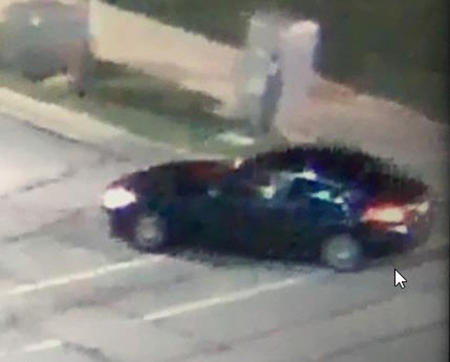 Initial surveillance footage of the car authorities are looking for. (KCTV)
