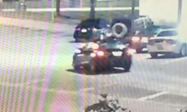A view of the rear of the suspect's vehicle involved in the kidnapping. (KCTV)