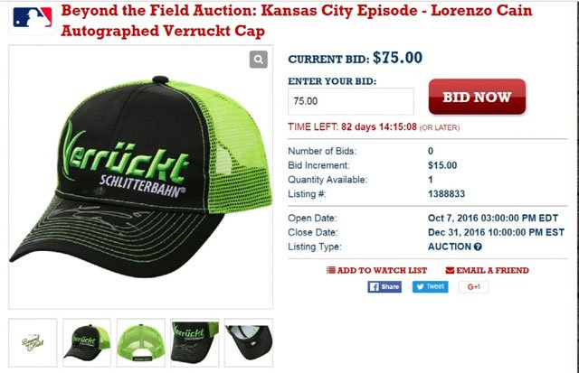 The MLB auctions off baseball memorabilia for charity, but one item this year raised some concerns. (Major League Baseball Auction)