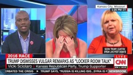 Vicki Sciolaro is the Chairwoman of the3rdCongressionalDistrictfor theKansas Republican Party.  Sciolaro voiced her support for Donald Trump during an interview with CNN's Brooke Baldwin. (CNN)