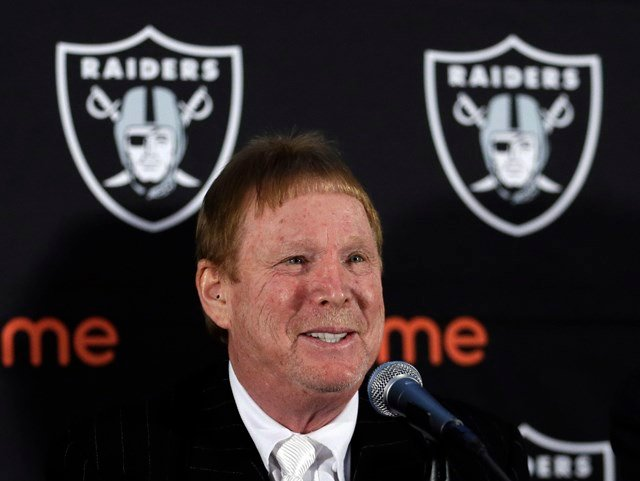Raiders owner Mark Davis says he wants to move the team to Las Vegas and is willing to spend a half billion dollars as part of a deal for a new stadium in the city.  (AP)