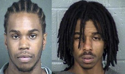 Kansas City, Kansas Police are looking for these two men with outstanding warrants: Jamon Marshall, left, and Jamaul Holmes, right. (KCTV)