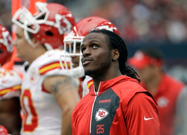 Running back Jamaal Charles had exploratory surgery on his right knee Wednesday as the Chiefs try to determine why there is lingering pain from reconstructive surgery last season. (AP Photo/David J. Phillip, File)