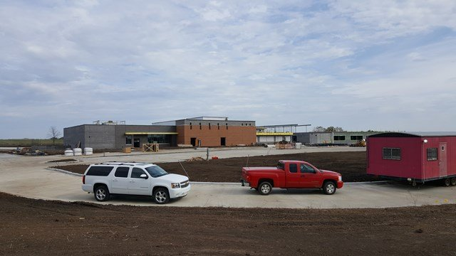 The progress that's been made on the school so far. (Blue Valley Schools)