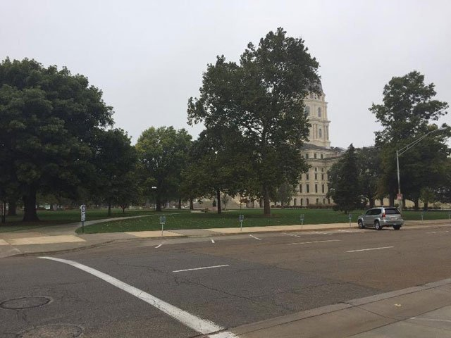 Authorities have removed a suspicious package with a hazardous material sticker from the grounds of the Kansas Statehouse after determining it wasn't dangerous. (WIBW)