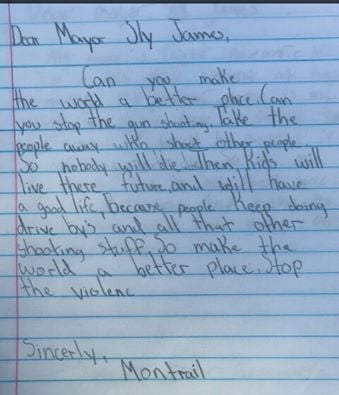 Montrail Ross lost his brother in a shooting two months ago. Now, he's written a letter to the mayor asking him to stop gun violence in the city. (KCTV)