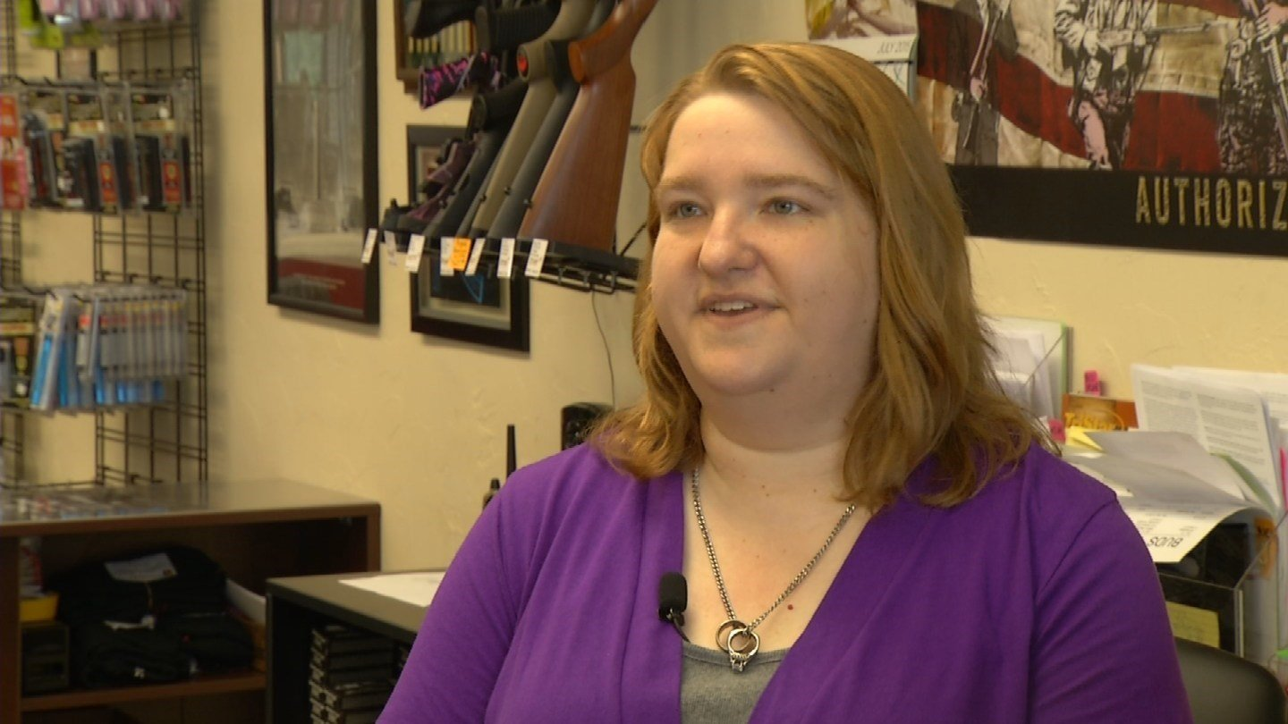Becky Bieker and her staff at She's A Pistol in Shawnee, KS is teaching a course on emergency management. (KCTV5)