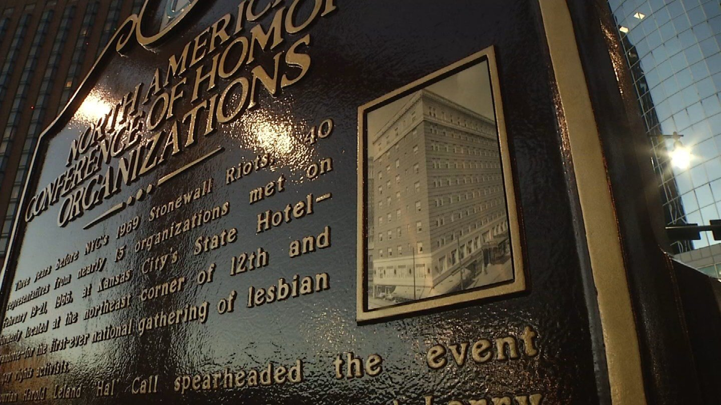 A historic marker honoring Kansas City's LGBTQ history was unveiled at 12th and Wyandotte Streets in Kansas City, MO.