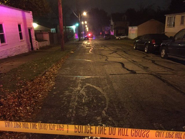 The first scene, at Scarritt Avenue and N. Bellaire Avenue, is where police believe the shooting happened. (KCTV5/Jessica Reyes)