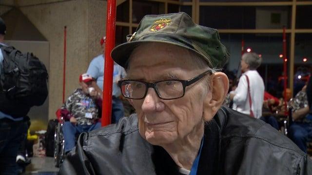 The World War II veterans journey in the Marine Corps began in 1942. (KCTV5)