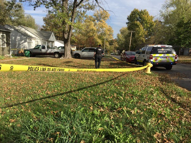 There is a 26-year-old and a 27-year-old in the house, but there is no word on which of them was shot. (Grady Reid/KCTV)