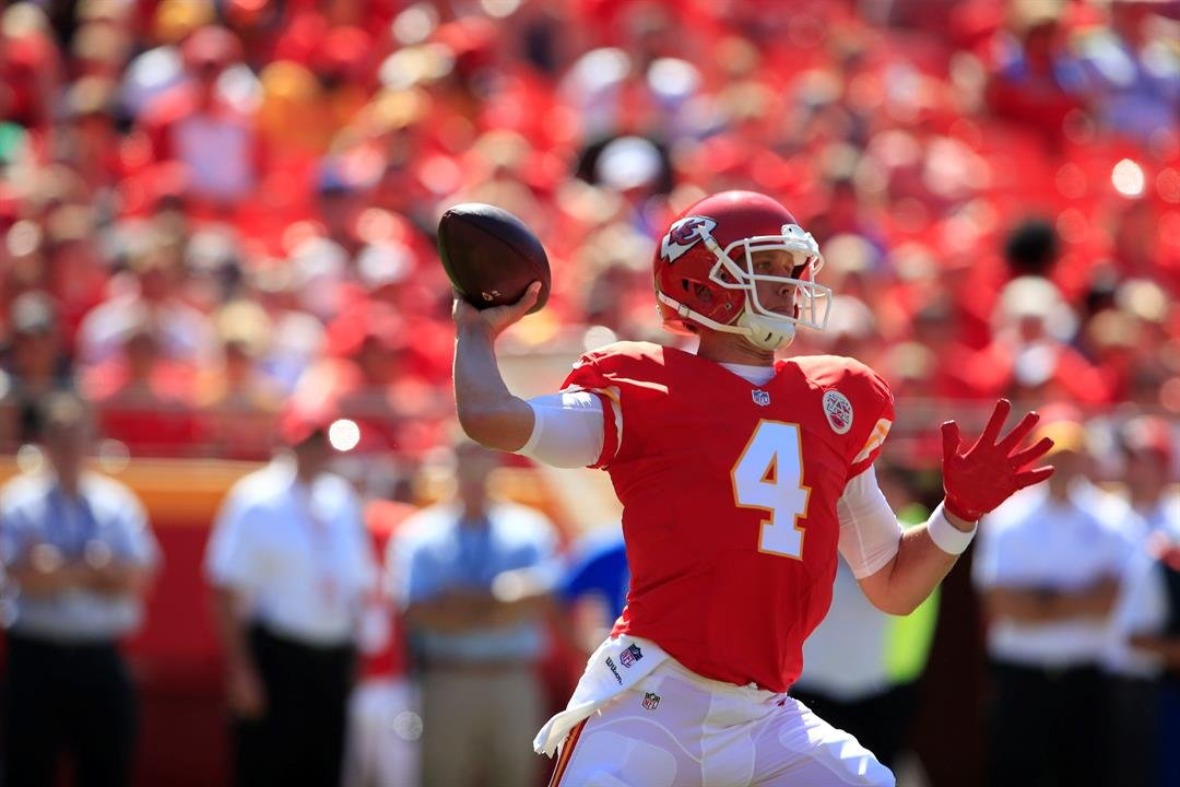 Kansas City Chiefs quarterback Nick Foles will get the start on Sunday vs. Jacksonville. (AP)