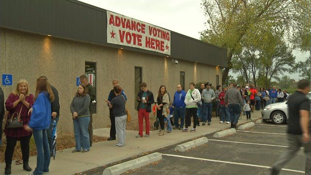 Lines were long for most the day, and some voters who voted early last week say they were met with wait times of about an hour. (KCTV5)