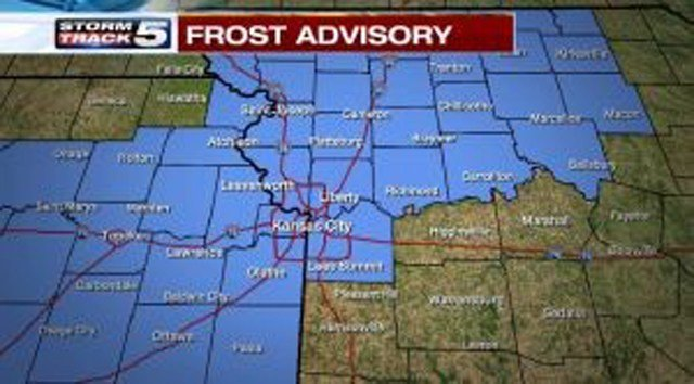 Frost is possible and an advisory has been issued from 3 a.m. to 9 a.m. Wednesday. (KCTV5)