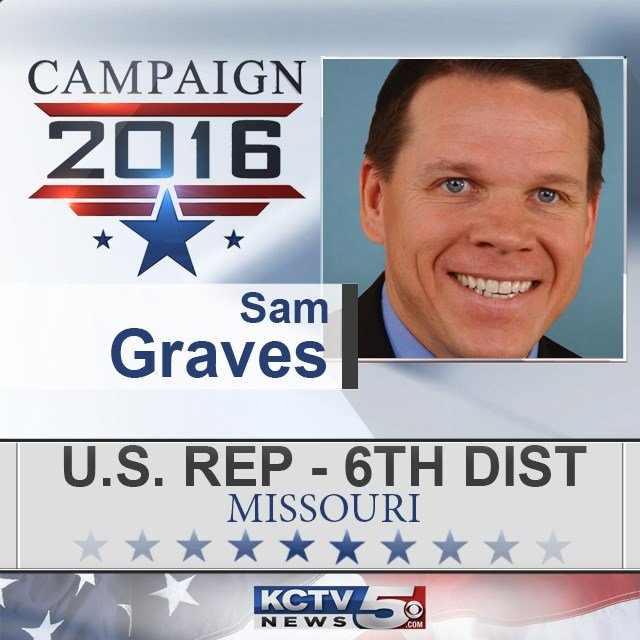 Republican U.S. Rep. Sam Graves has been re-elected in a northern Missouri congressional district that stretches from border to border. (KCTV5)
